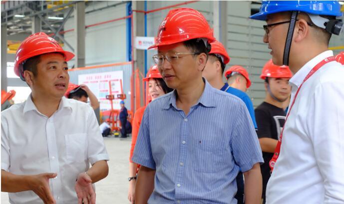 湖南省岳阳市发改委调研汨罗产业园区建设