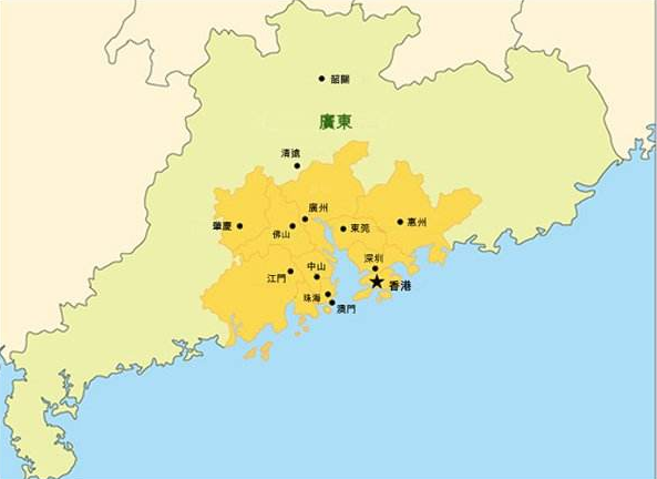"""广东要建""""大珠三角经济区""""促进粤东西北一体化"""