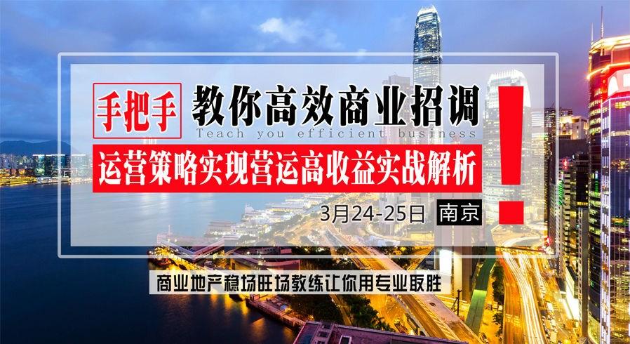 3月24-25日【南京】《手把手教你高效商业招调运营策略实现营运高收益实战解析》